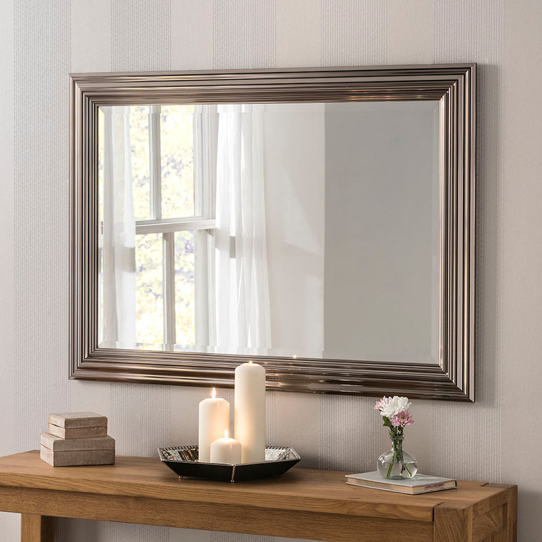 Yearn Rectangular YG701 Dark Chrome Mirror