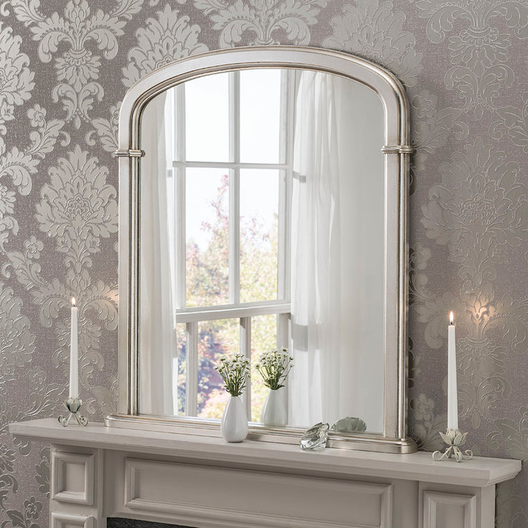 Yearn Over Mantles YG96 Silver Leaf Mirror