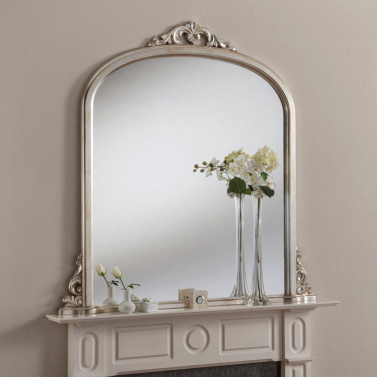 Yearn Over Mantles YG99 Silver Leaf Mirror