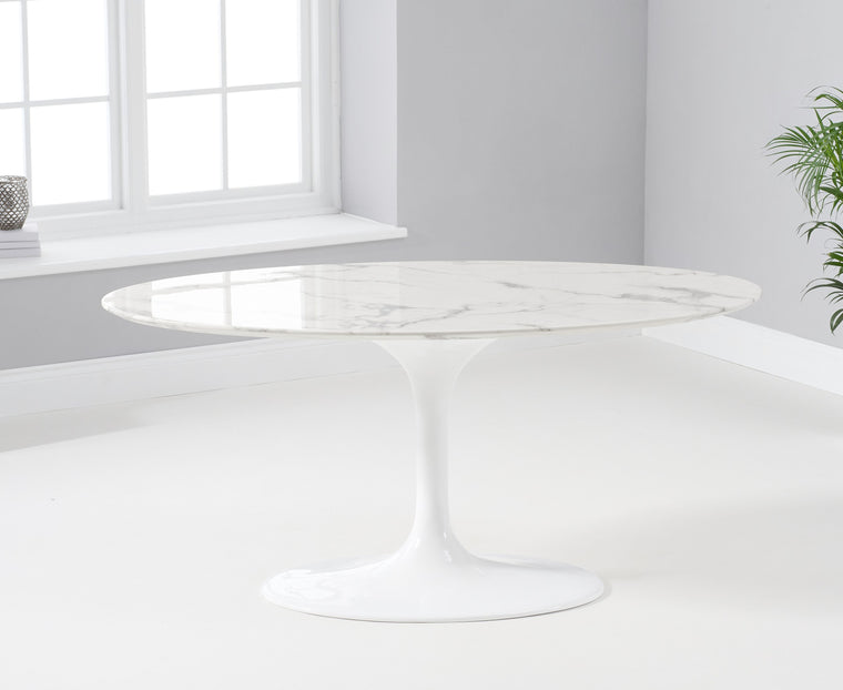 Mark Harris Brittney 160cm Oval White Dining Table