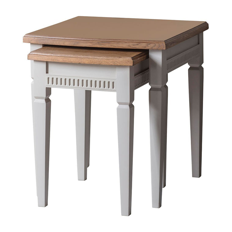 Hudson Living Bronte Nest of 2 Tables Taupe