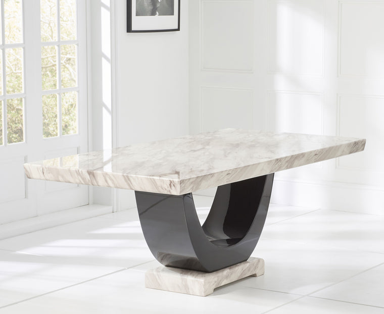 Mark Harris Rivilino 200cm Cream Marble Dining Table