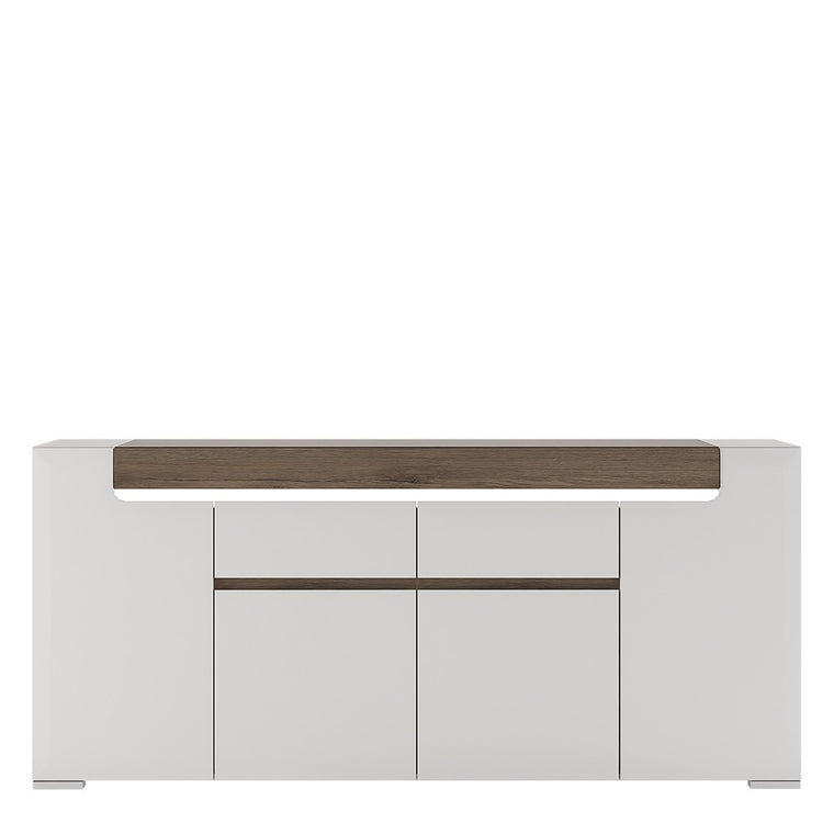 Axton Bronxdale Wide 4 Door 2 Drawer Sideboard (inc. Plexi Lighting)