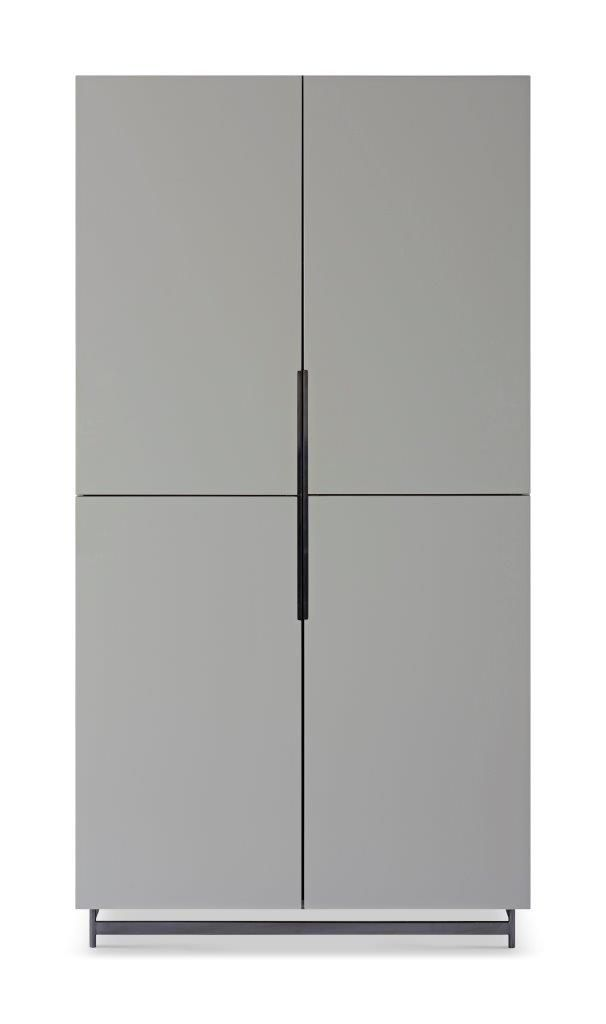 Gillmore Space Alberto Wardrobe Grey With Dark Chrome Accent