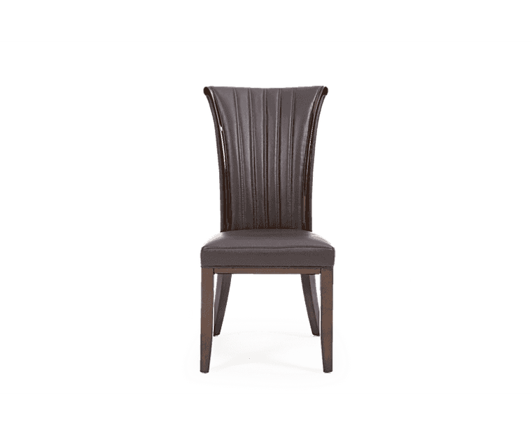 Mark Harris Almeria Brown Leather Dining Chair (Pairs)