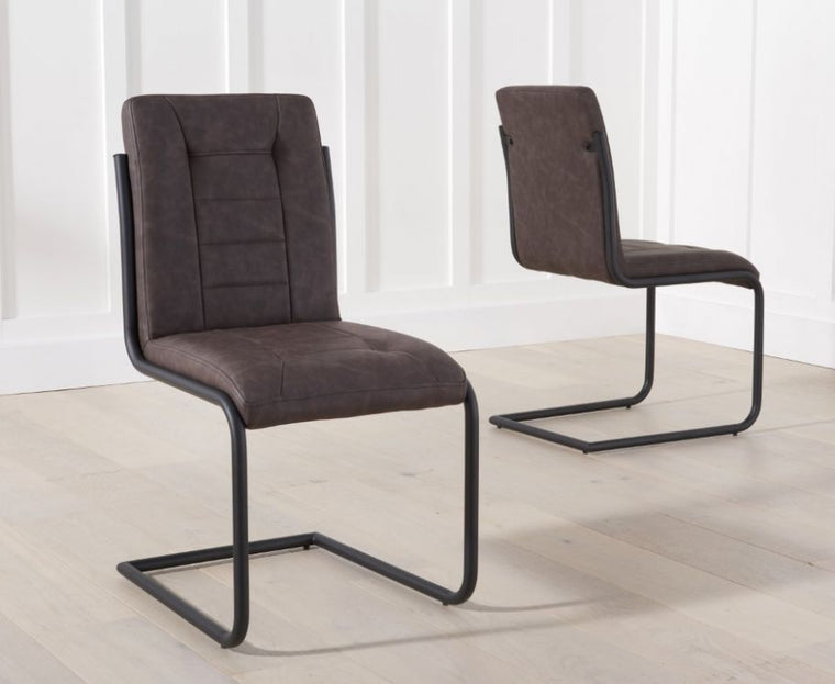 Mark Harris Archie Brown Dining Chairs (Pairs)