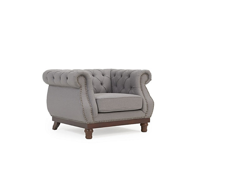 Mark Harris Highgrove Grey Linen Armchair