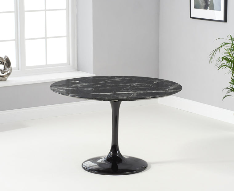 Mark Harris Brittney 120cm Round Black Dining Table