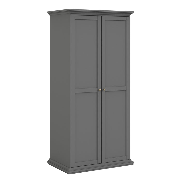 Axton Westchester Wardrobe with 2 Doors in Matt Grey