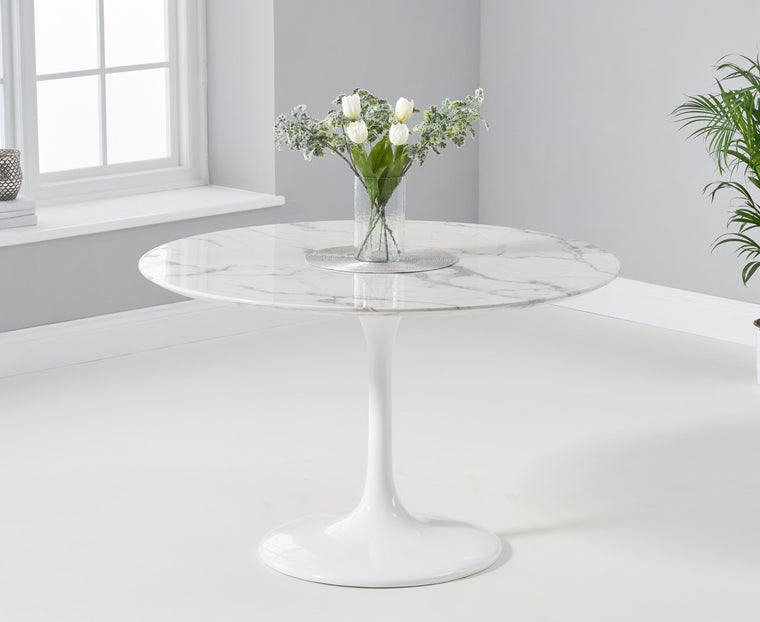 Mark Harris Brittney 120cm Round White Dining Table