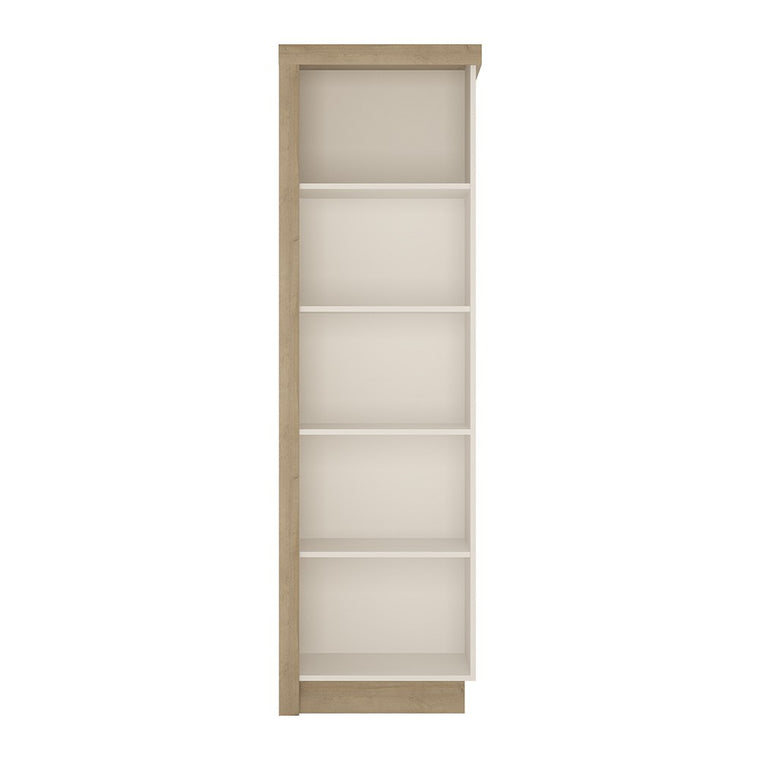Axton Woodlawn Bookcase (RH) In Riviera Oak/White High Gloss