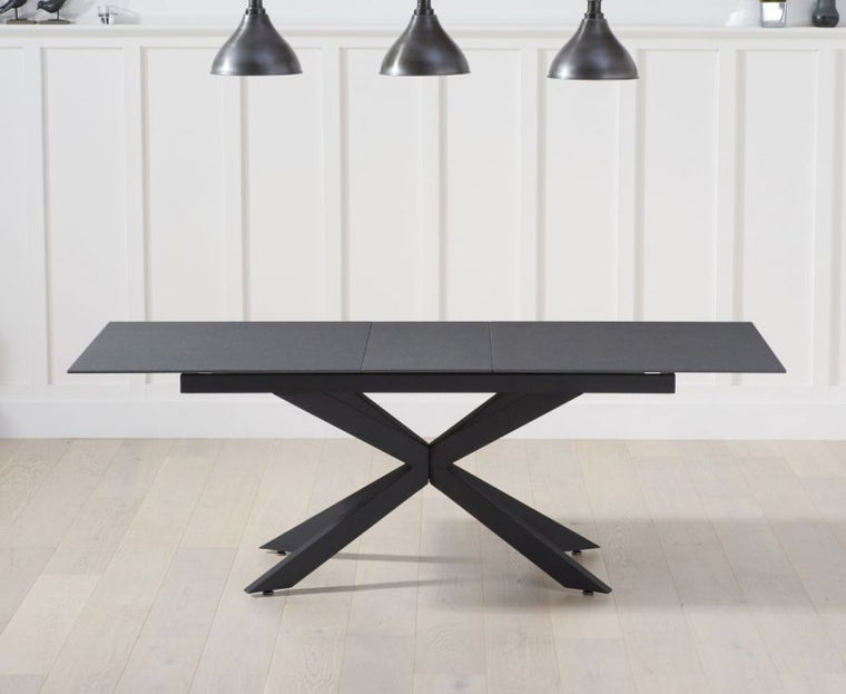Mark Harris Britolli 180cm Extending Grey Stone Finish Dining Table