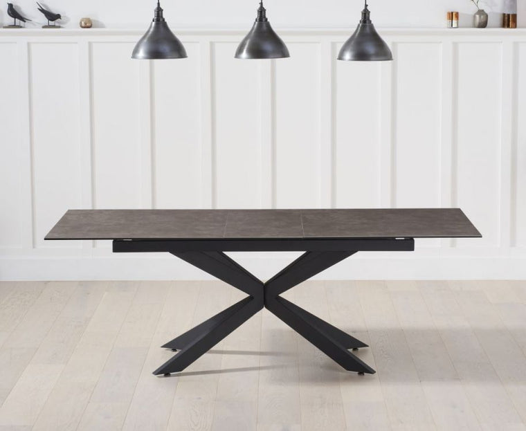 Mark Harris Britolli 180cm Extending Mink Ceramic Dining Table