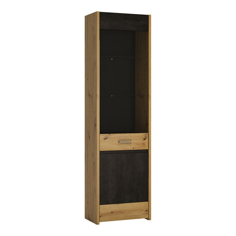 Axton Belmont Display Cabinet - Tall & Narrow