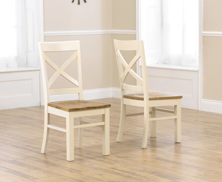 Mark Harris Cavanaugh Cream & Oak Chairs (Pairs)