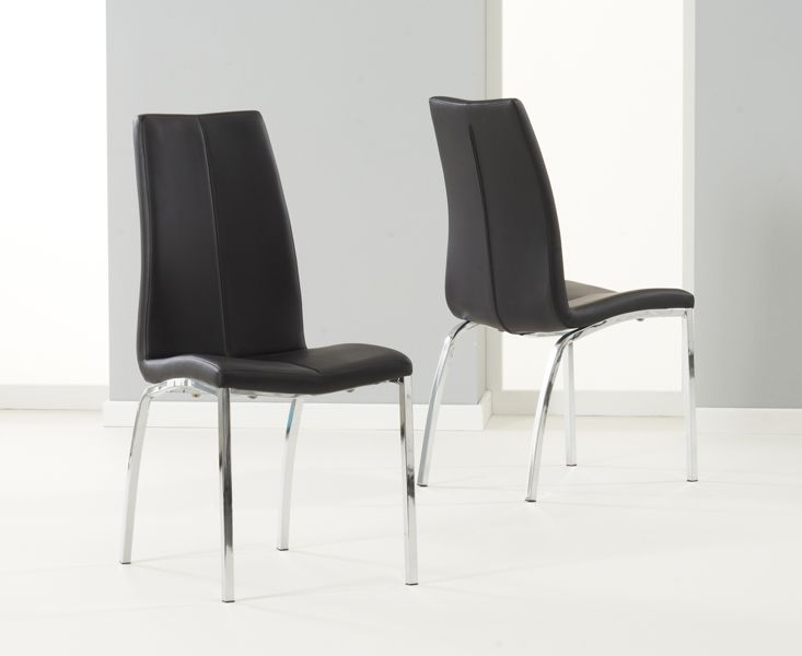 Mark Harris Carsen Black Dining Chair (Pairs)