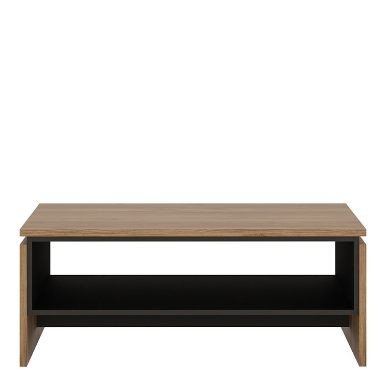 Axton Belmont Coffee Table With The Walnut And Dark Panel Finish