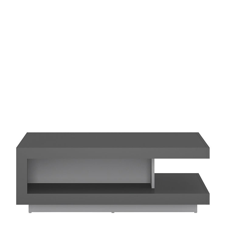 Axton Woodlawn Designer Coffee Table In Platinum/Light Grey Gloss