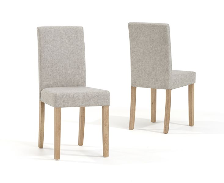 Mark Harris Maiya Cream Weave Fabric Chairs (Pairs)