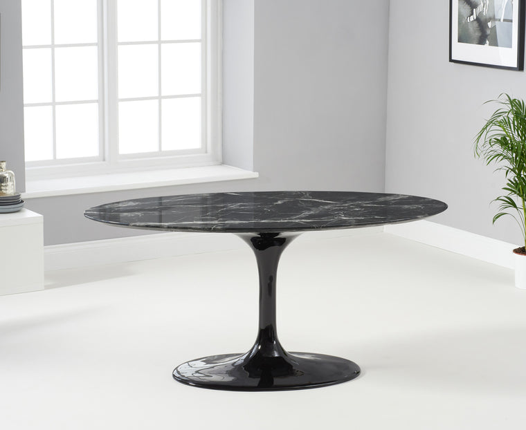 Mark Harris Brittney 160cm Oval Black Dining Table