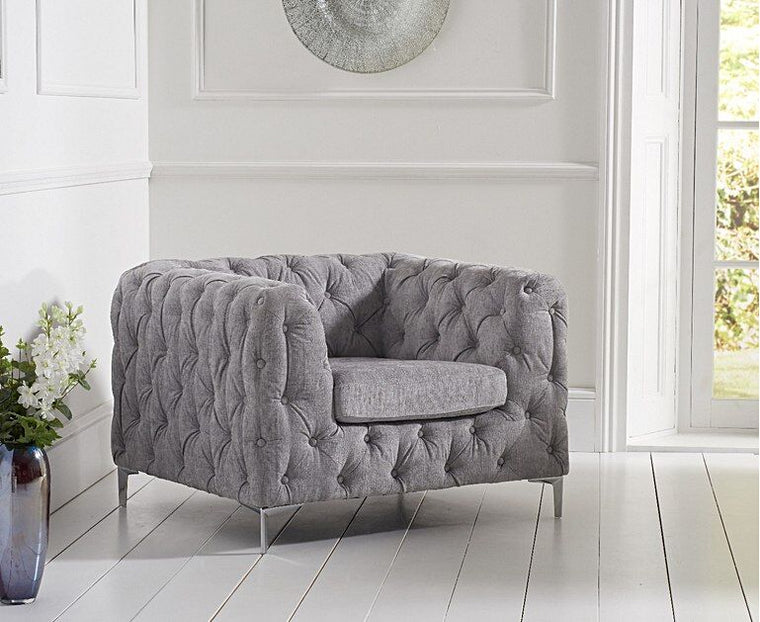 Mark Harris Alegra Grey Plush Chair