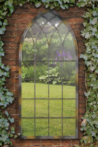 Carrington Rustic Arch Large Garden Mirror 161 x 72 CM