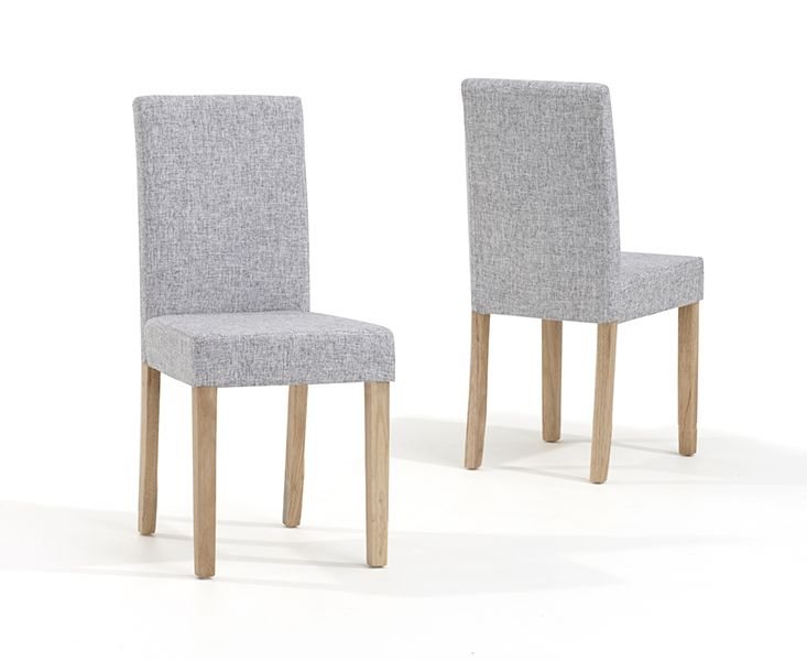 Mark Harris Maiya Grey Weave Fabric Chairs (Pairs)