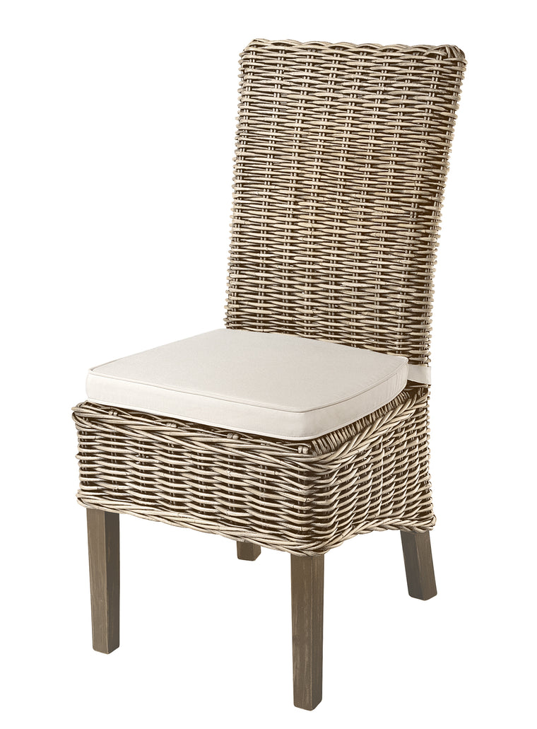Rowico Grey Wash Rattan Dining Chair