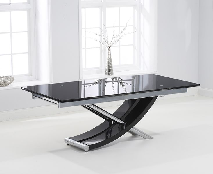 Mark Harris Hanover 210cm Glass Extending Dining Table