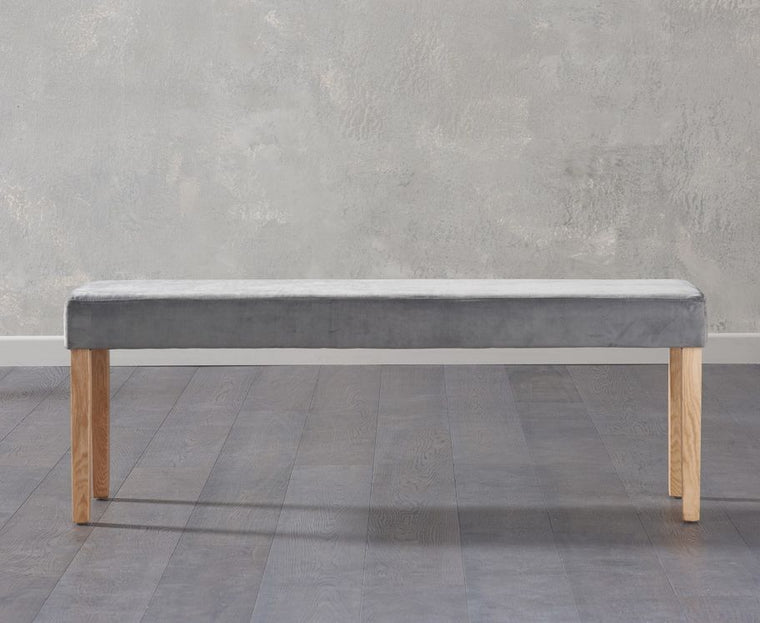 Mark Harris Maiya Large Plush Grey Bench