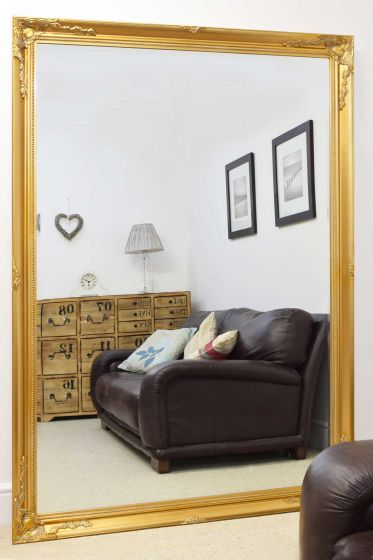 Carrington Gold Extra Large Leaner Mirror 201 x 140 CM