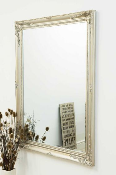 Carrington Silver Large Leaner Mirror 140 x 109 CM