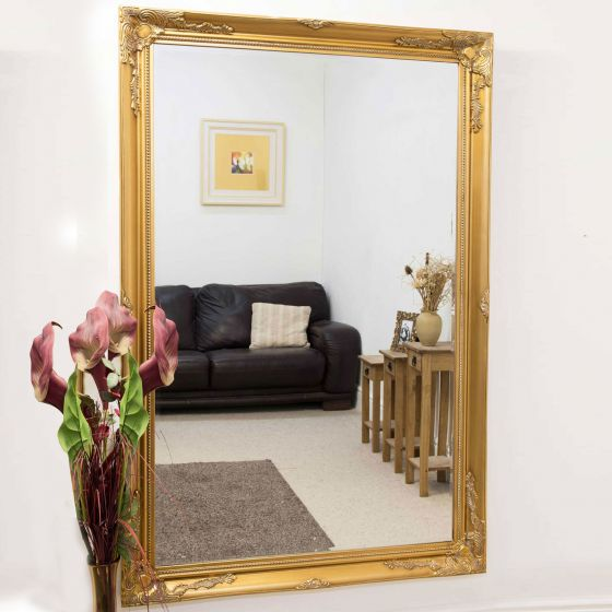 Carrington Gold Leaner Mirror 170 x 109 CM