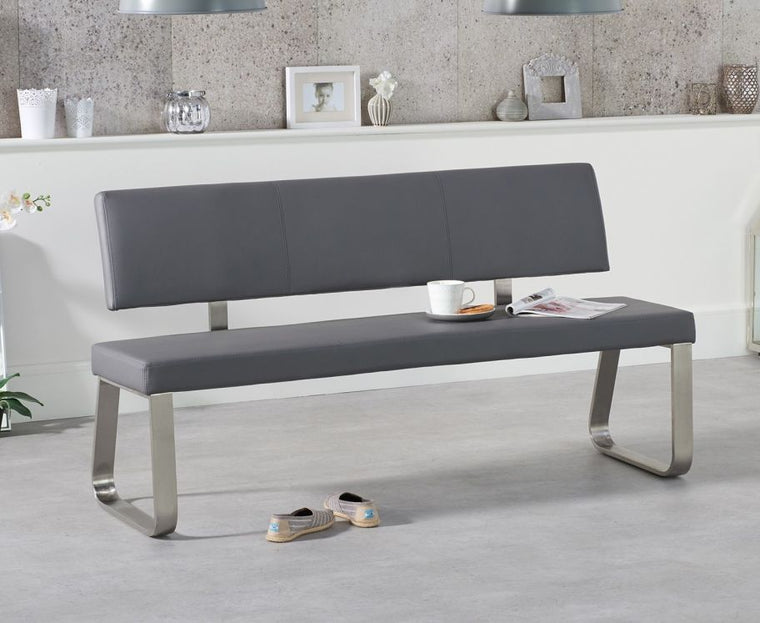 Mark Harris Malibu Large Grey Bench With Back