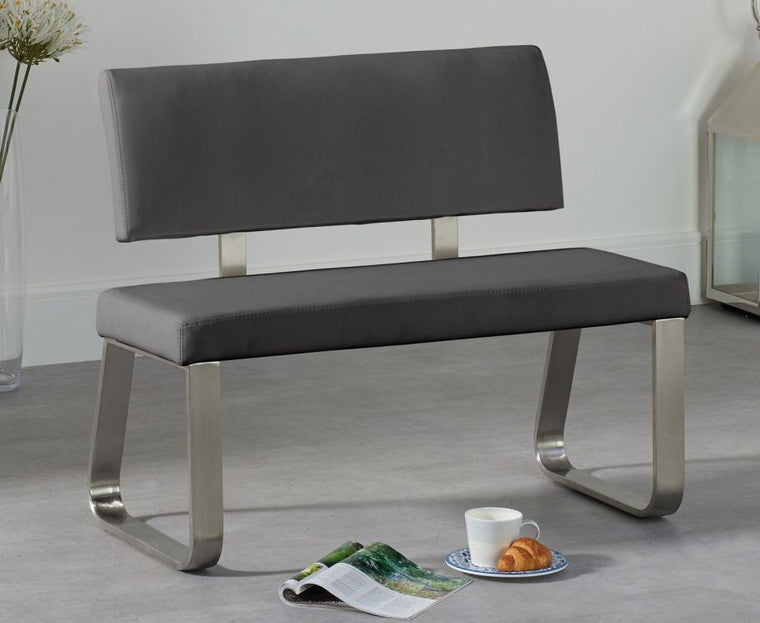 Mark Harris Malibu Small Grey Bench With Back