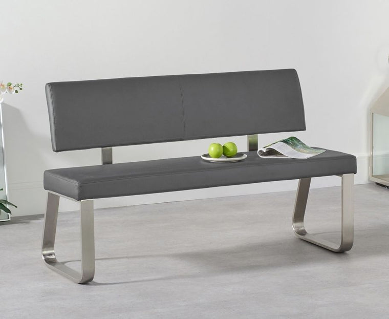 Mark Harris Malibu Medium Grey Bench With Back