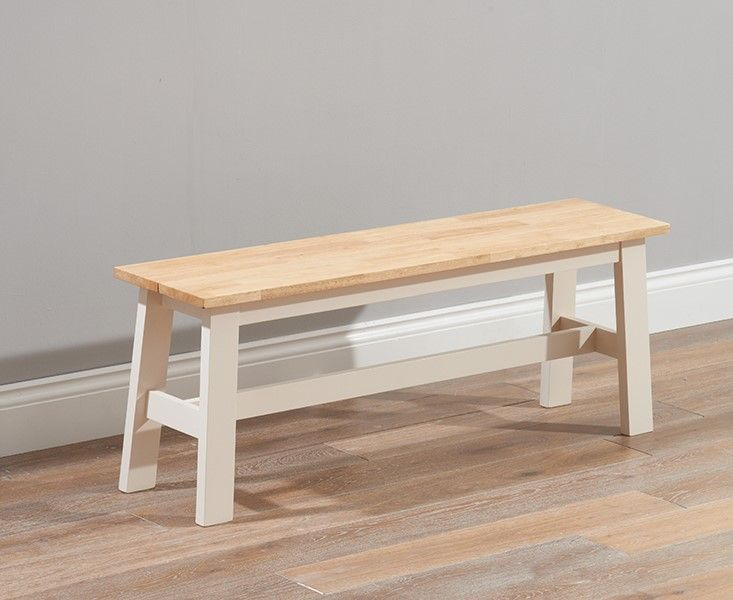 Mark Harris Chichester Solid Hardwood & Painted Large Bench - Oak & Cream