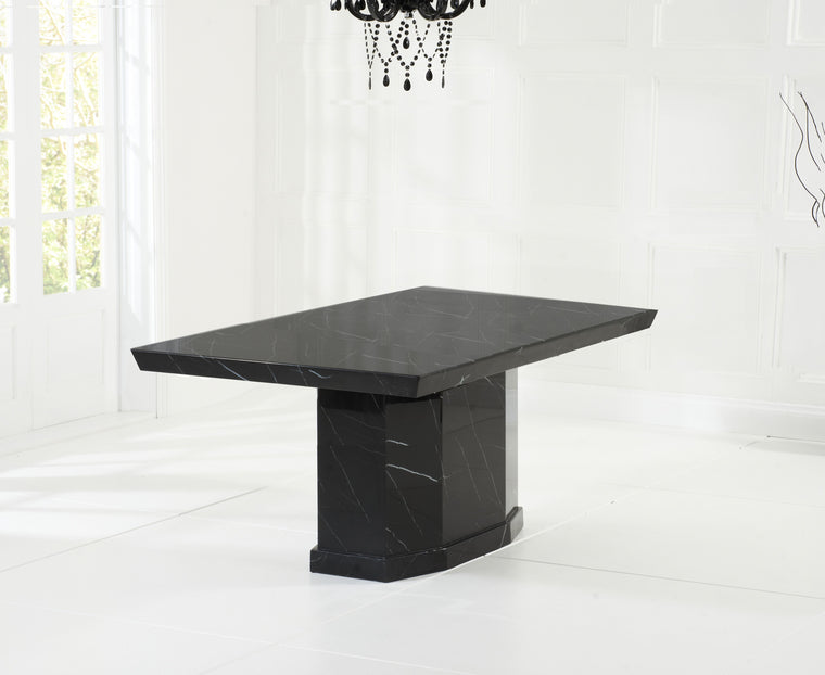 Mark Harris Como 160cm Black Marble Dining Table