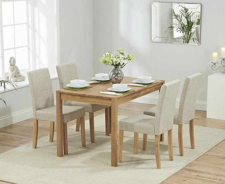 Mark Harris Promo 120cm Dining Set With 4 Maiya Chairs