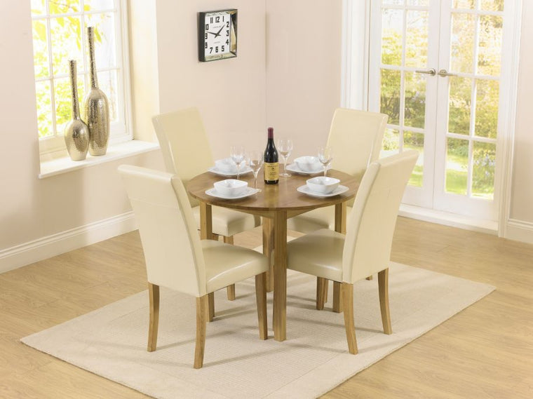 Mark Harris Promo Round Extending Dining Set With Atlanta Chairs