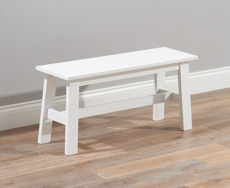 Mark Harris Chichester Solid Hardwood & Painted Small Bench White