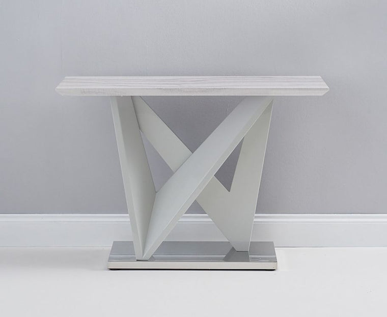 Mark Harris Rosario High Gloss Light Grey Console Table