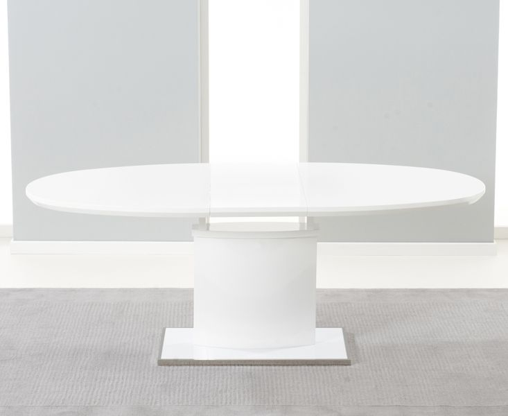 Mark Harris Seville 160cm White High Gloss Extending Dining Table