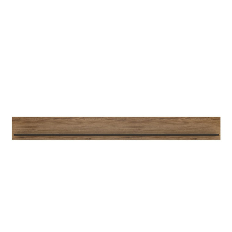 Axton Belmont 197cm Wall Shelf With The Walnut And Dark Panel Finish