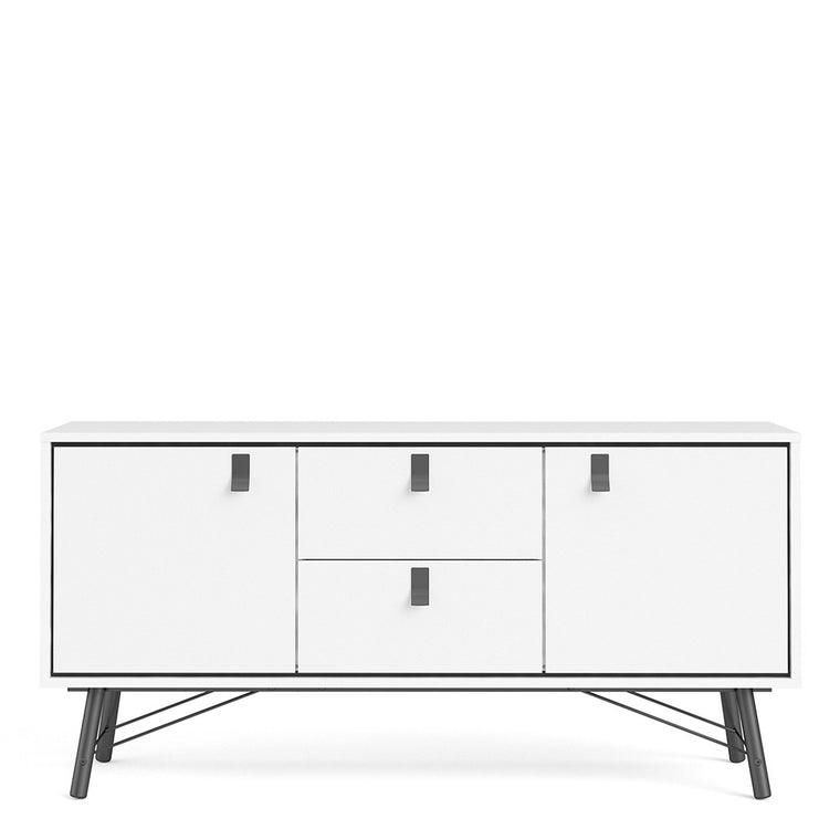 Axton Longwood Sideboard 2 Doors + 2 Drawers In Matt White