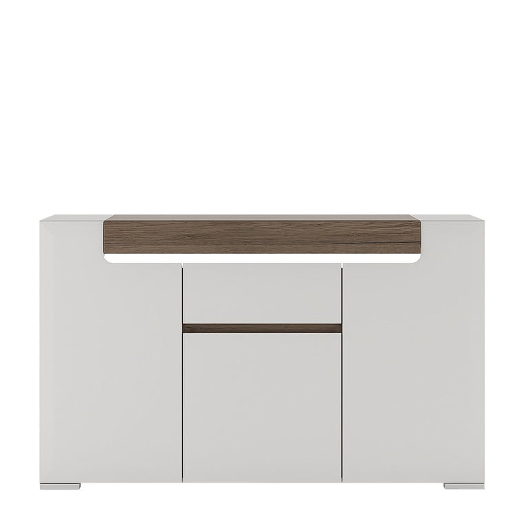Axton Bronxdale 3 Door 1 Drawer Sideboard (inc. Plexi Lighting)