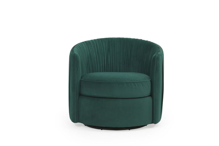 Mark Harris Sarana Green Velvet Swivel Chair