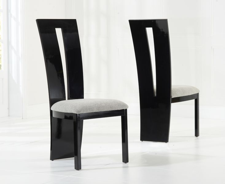 Valencie Black Dining Chairs (Pair)