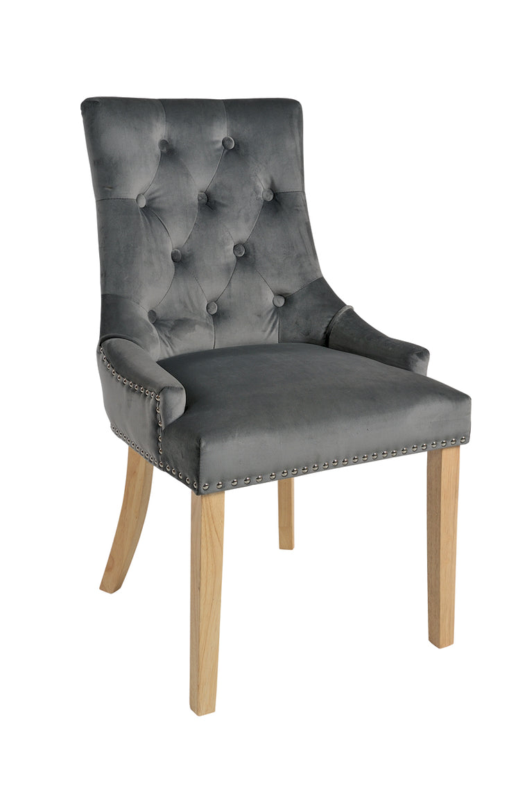 Rowico Vicky Dining Chairs Smoky Charcoal