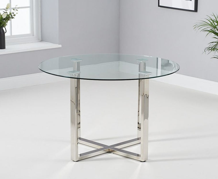 Mark Harris Vidro 120cm Round Glass Dining Table